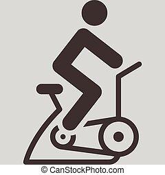 intérieur, cyclisme, icône