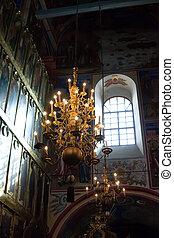 intérieur, de, église orthodoxe