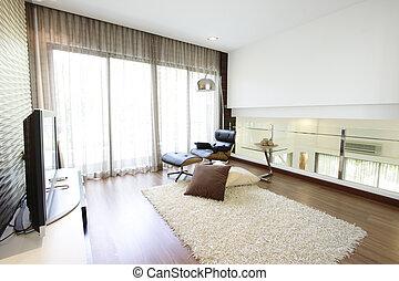 intérieur, de, a, habiter moderne, salle