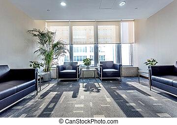 intérieur, de, a, salle d'attente