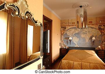 intérieur, de, chambre à coucher