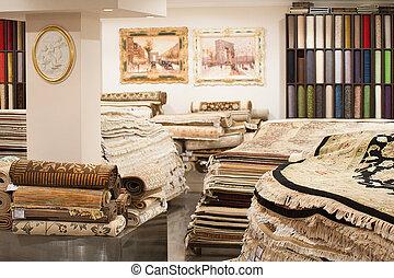 int rieur magasin moquette magasin grand moscou photographies de stock rechercher. Black Bedroom Furniture Sets. Home Design Ideas