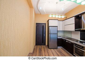 intérieur, de, moderne, cuisine