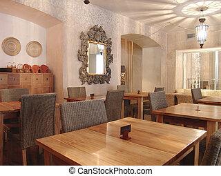 intérieur, de, restaurant