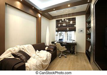 intérieur, de, salle de séjour