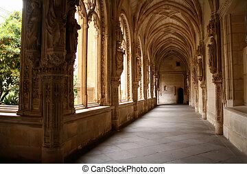 intérieur, de, vue, monasterio, piedra