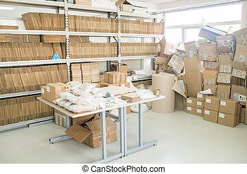 intérieur, entrepôt, usine