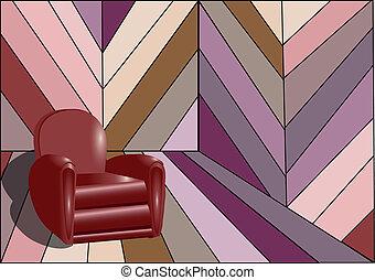 intérieur, fauteuil, étrange