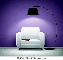 intérieur, fauteuil