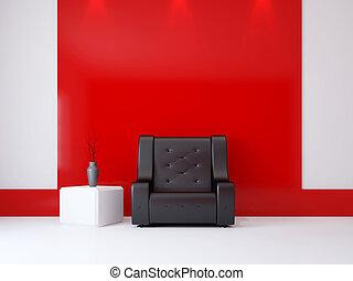 intérieur, fauteuil, salle