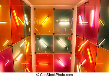 intérieur, fluorescent