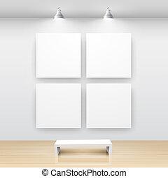 intérieur, galerie, vide