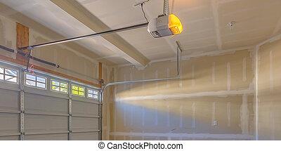intérieur, garage, construction, vue, sous