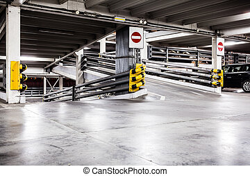 intérieur, garage, stationnement, voitures