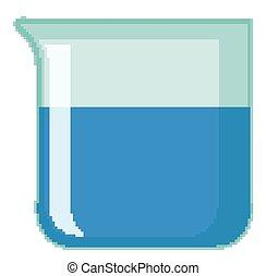 intérieur, gobelet, bleu, chimique