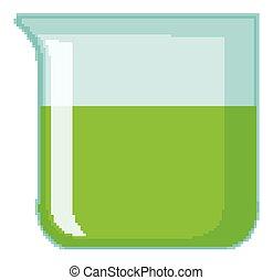 intérieur, gobelet, vert, chimique