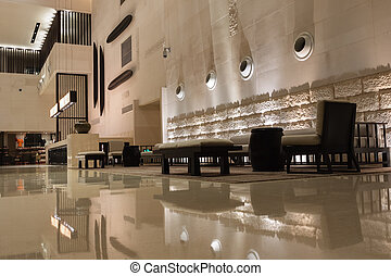 intérieur, hôtel, moderne