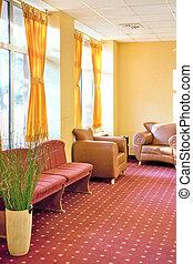intérieur, hôtel, salle