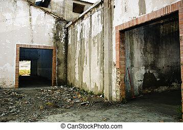 intérieur, industriel, abandonnés