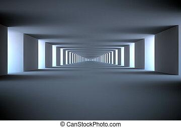 intérieur, infinité,  render,  3D