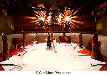 intérieur, italien, restaurant