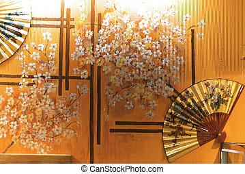 intérieur, japon, classique