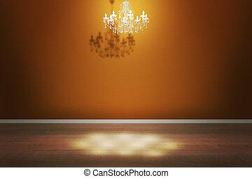 intérieur, jaune, salle, toile de fond