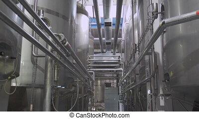 intérieur, laitage, usine