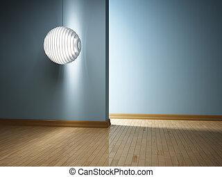 intérieur, lampe, moderne