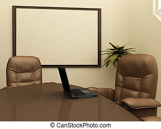 intérieur, lieu travail, bureau