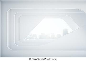 intérieur, lumière, futuriste
