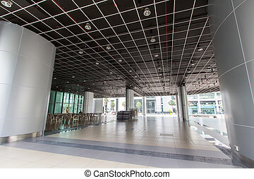 intérieur, luxe, bâtiments bureau