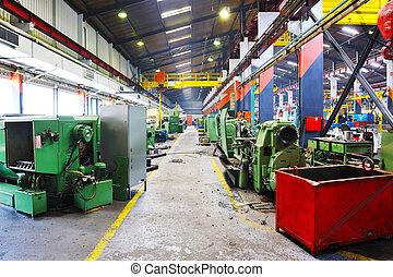 intérieur, métal, industy, usine