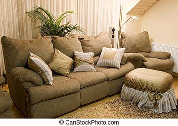 intérieur, maison, confortable