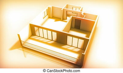 intérieur, maison, construire