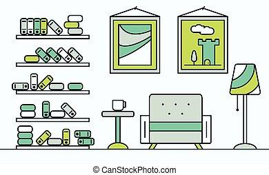 intérieur, maison, design.