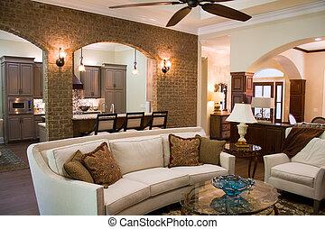 intérieur, maison, luxe