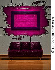 intérieur, minimaliste, visualisation