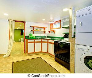 intérieur, mode, vieux, cuisine