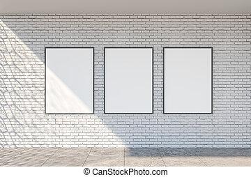 intérieur, moderne, bannière, vide