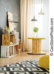 intérieur, moderne, bricolage, meubles