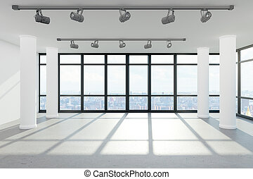 intérieur, moderne, bureau vide