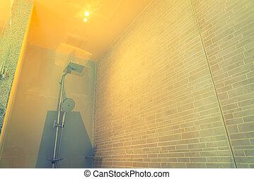 intérieur, moderne, de, les, salle bains, .