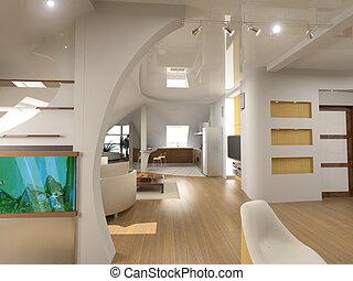 intérieur, moderne