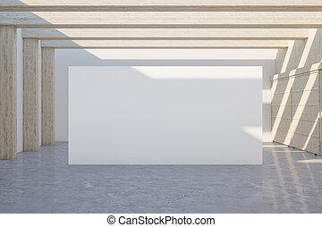 intérieur, moderne, galerie
