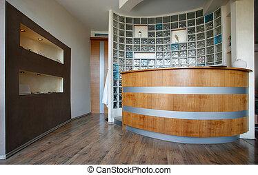 intérieur, moderne, réception