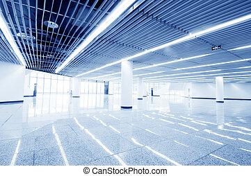 intérieur, moderne, salle, bureau, centre