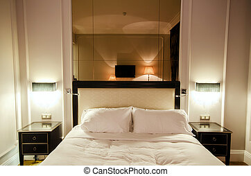 intérieur, moderne, salle
