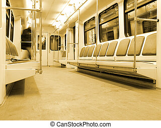 intérieur, moderne, train