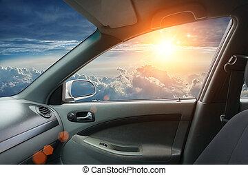 intérieur, mouche, voiture